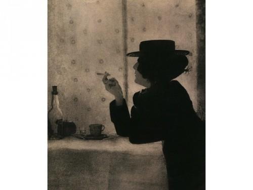 Femme dans un canotier, Robert Demachy, 1899.jpg
